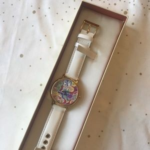 Coach Poppy C Watch, Patent White leather - NWT